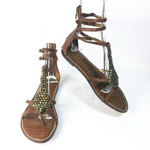 fee7af216 SAM EDELMAN Ginger Saddle Goat Gladiator Sandals. M 5a6df8313800c56a5658c59c
